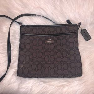 Coach monogram black purse